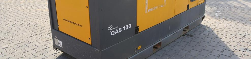 Aggregaat 100 KVA Atlas Copco Qas-100  32 a /63 a geluid 125