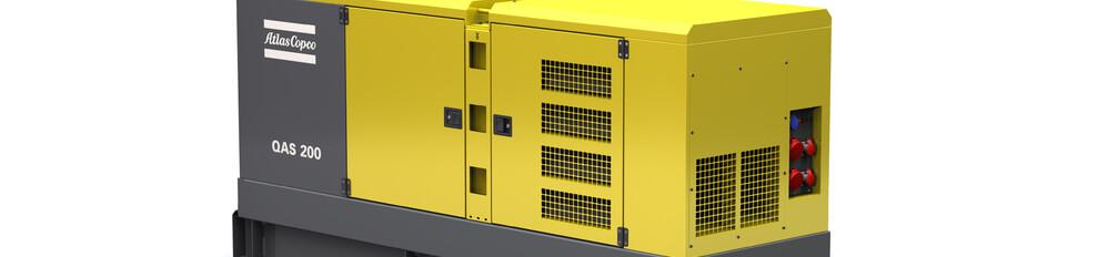 Aggregaat 200 KVA Atlas Copco Qas-200  32 a /63 a geluid 125