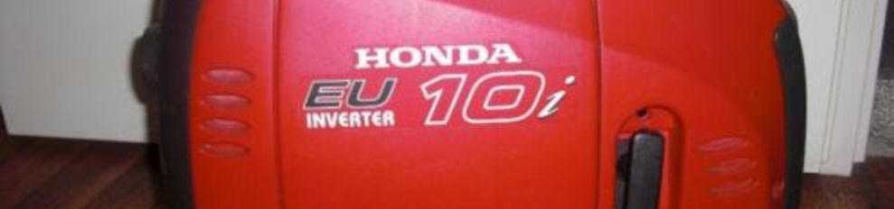 Honda Aggregaat 1 KVA Benzine EU10iS Inverter speciaal voor electronica.